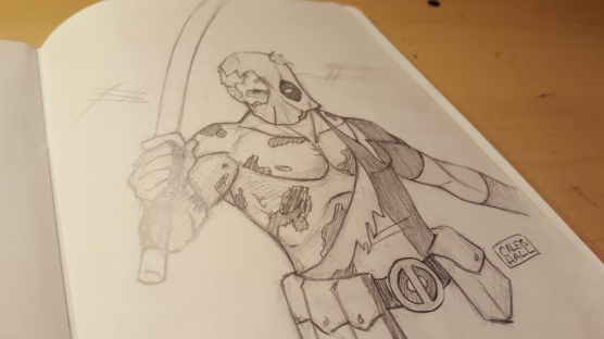 Deadpool_Sketch_calebhallart
